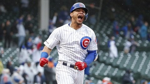 Willson Contreras went yard for the 10th time this season with an epic walk-off blast in the 15th inning. (Credit: Kamil Krzaczynski-USA TODAY Sports)