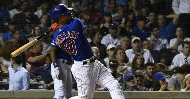 Willson Contreras came up with two pivotal extra-base hits that highlighted the Cubs' comeback efforts. (Credit: Matt Marton-USA TODAY Sports)