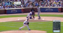 WATCH: Willson Contreras guns perfect throw from his knees to catch runner stealing