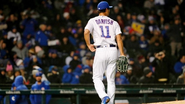 Cubs starter Yu Darvish remained winless on the season. (Credit: Jon Durr-USA TODAY Sports)