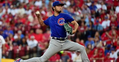 Chicago Cubs starting pitcher Yu Darvish is leaning toward not opting out of the remainder of his lucrative contract. (Credit: Jeff Curry-USA TODAY Sports)