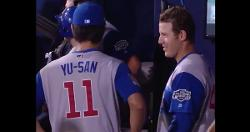 WATCH: Darvish translates for Rizzo, who gives home-run ball to Japanese little leaguer