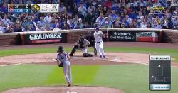 WATCH: Yu Darvish feigns bunt attempt, connects on RBI base knock