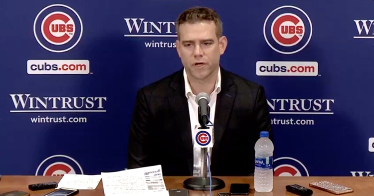 Chicago Cubs President of Baseball Operations Theo Epstein held a press conference to cap off the 2019 season and look ahead to the future.
