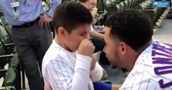 WATCH: Little boy overcome with emotion when meeting Willson Contreras