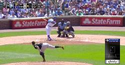 WATCH: Robel Garcia swings at 0-2 pitch, comes up with 2-out RBI double