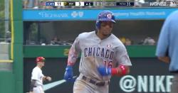 WATCH: Robel Garcia powers out 416-foot rainmaker for first career dinger