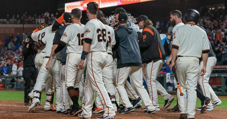 Pablo Sandoval lifted the San Francisco Giants to victory over the Chicago Cubs with a walkoff home run. (Credit: Neville E. Guard-USA TODAY Sports)