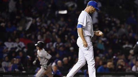 The Miami Marlins slowly chipped away at the Chicago Cubs after falling into an early 3-run hole. (Credit: Quinn Harris-USA TODAY Sports)