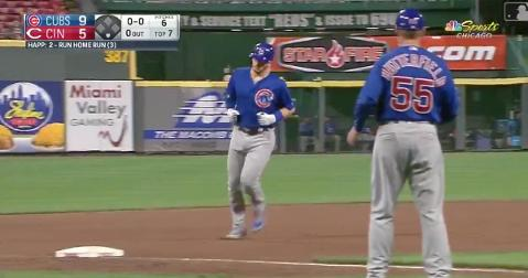 Despite cracking his bat, Ian Happ swatted his third home run of the season in the seventh inning on Thursday.