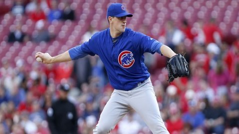 Chicago Cubs hurler Kyle Hendricks showed out on the mound and at the plate. (Credit: David Kohl-USA TODAY Sports)