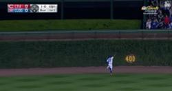 WATCH: Jason Heyward pulls off impressive leaping catch to start game