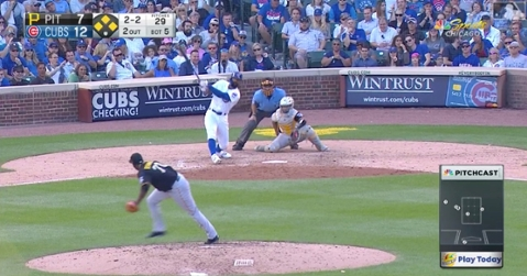 In a pinch-hitting spot, Jason Heyward cleared the bases with a 3-run double as part of a 7-run inning for the Cubs.