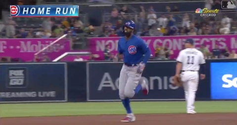 Chicago Cubs outfielder Jason Heyward collected his 20th home run of the year on a 2-run dinger at Petco Park.