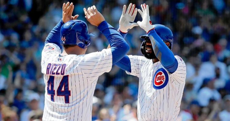 Anthony Rizzo (left) expressed his full support for Jason Heyward (right) in his impassioned postgame remarks.