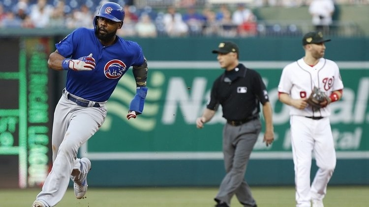 The Cubs totaled nine hits in the win, including two by Jason Heyward. (Credit: Geoff Burke-USA TODAY Sports)