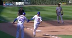 WATCH: Nico Hoerner smacks 3-run bomb, gives Cubs new single-season record