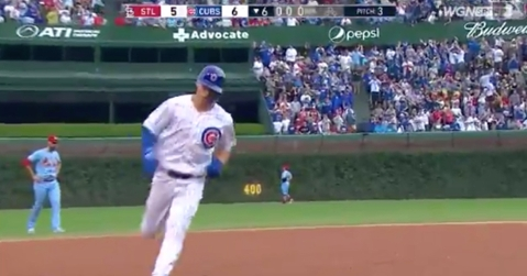 Recent call-up Nico Hoerner provided the Chicago Cubs with a lead over the St. Louis Cardinals.