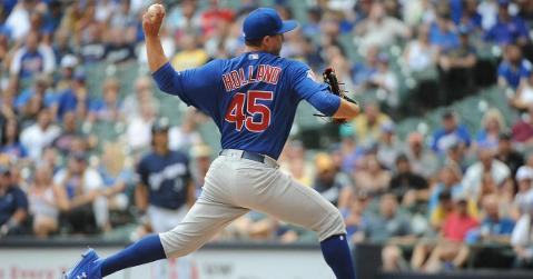 Chicago Cubs reliever Derek Holland fired back at a few of his critics on Twitter after giving up a walkoff grand slam. (Credit: Michael McLoone-USA TODAY Sports)