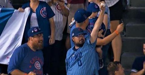 WATCH: Cubs fan yanks Schwarber walk-off home run ball from two kids