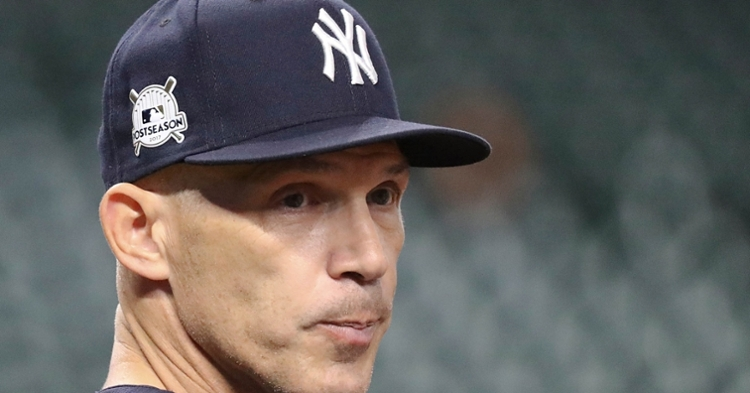Former New York Yankees manager Joe Girardi is considered a strong candidate to become the Chicago Cubs' next skipper. (Credit: Thomas B. Shea-USA TODAY Sports)