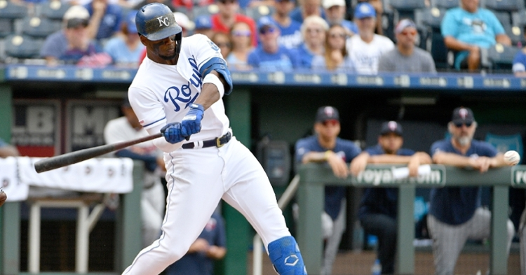 Former Chicago Cubs outfielder Jorge Soler led the American League with 48 home runs as a member of the Kansas City Royals this season. (Credit: Denny Medley-USA TODAY Sports)