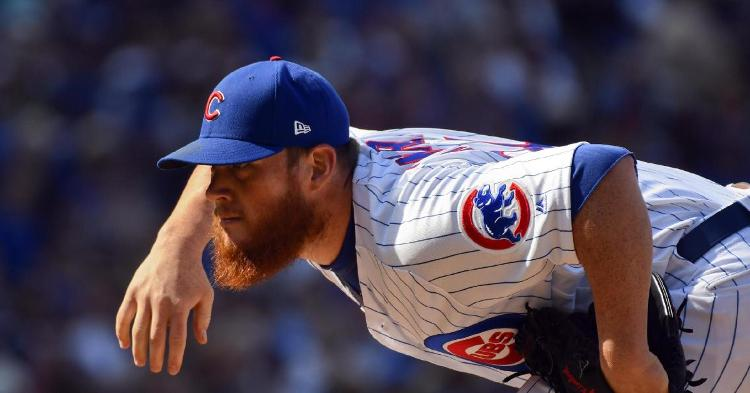 Closer Craig Kimbrel made his Chicago Cubs debut on Thursday and came away with a save. (Credit: Matt Marton-USA TODAY Sports)