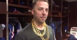 WATCH: Brandon Kintzler wears gaudy chains for postgame interview