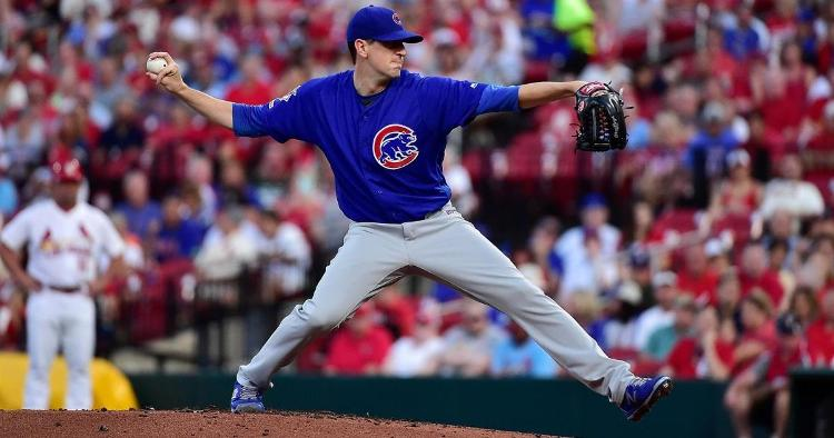 Chicago Cubs starting pitcher Kyle Hendricks earned the winning decision for his scoreless outing on Wednesday. (Credit: Jeff Curry-USA TODAY Sports)