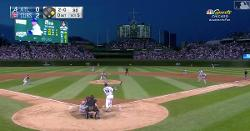 WATCH: Jon Lester fakes like he is going to bunt, hits base knock instead