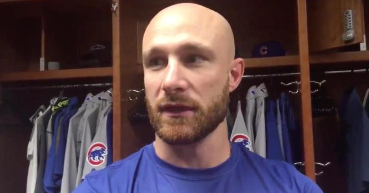 Veteran catcher Jonathan Lucroy spoke to the press prior to playing his first game with the Chicago Cubs.
