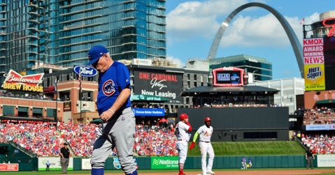 Prior to a press conference involving Chicago Cubs manager Joe Maddon, a videographer collapsed at Busch Stadium. (Credit: Jeff Curry-USA TODAY Sports)
