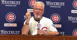 WATCH: Joe Maddon thanks person who decided to put basket at top of Wrigley Field wall