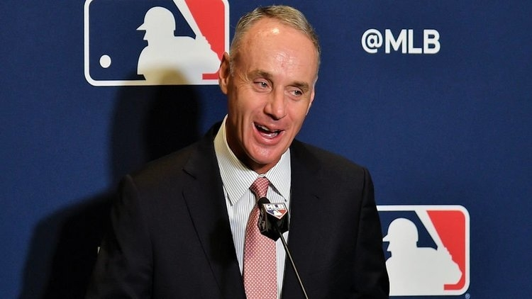 MLB's Manfred has not had a good offseason (Steve Mitchell - USA Today Sports)