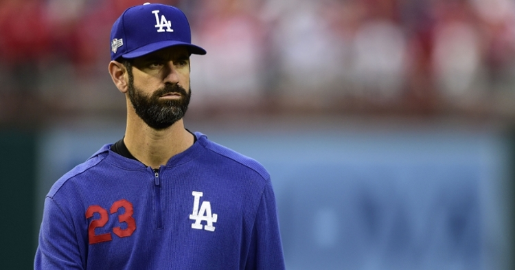 Former Chicago Cubs pitcher Mark Prior is the new pitching coach for the Los Angeles Dodgers. (Credit: Tommy Gilligan-USA TODAY Sports)