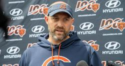 WATCH: Bears coach Matt Nagy makes hilarious mistake while singing during seventh-inning stretch