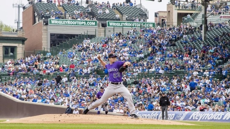 Making his first start in the majors, Rockies pitcher Peter Lambert showed out. (Credit: Patrick Gorski-USA TODAY Sports)