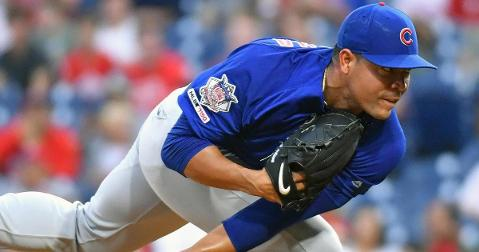 Chicago Cubs starting pitcher Jose Quintana amassed a career-high 14 strikeouts in a no-decision. (Credit: Eric Hartline-USA TODAY Sports)