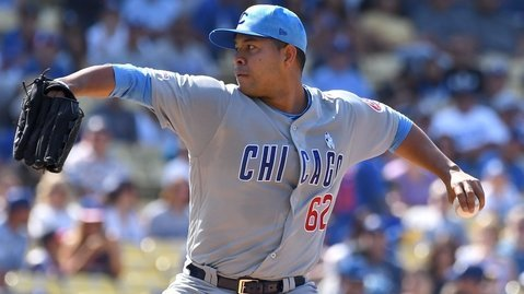 Cubs hurler Jose Quintana earned a no-decision for his 5-inning start. (Credit: Jayne Kamin-Oncea-USA TODAY Sports)