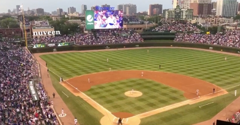 Chicago Cubs first baseman Anthony Rizzo used an appropriate walk-up song for his first at-bat on Thursday.