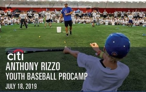 Anthony Rizzo announces 4th annual Youth Baseball camp