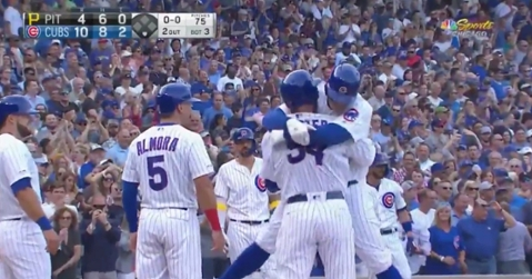 With the 10th grand slam of the season for the Chicago Cubs, Anthony Rizzo went yard in the third inning on Friday.