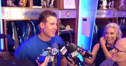WATCH: Anthony Rizzo reacts to becoming Cubs' new HBP king