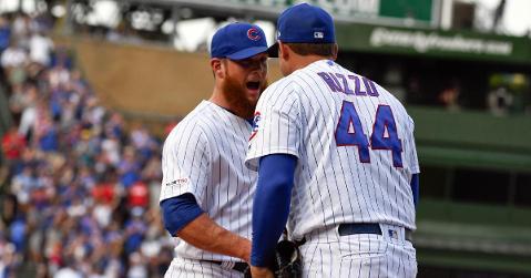 Kimbrel gets his first save as a Cubs player (Matt Marton - USA Today Sports)