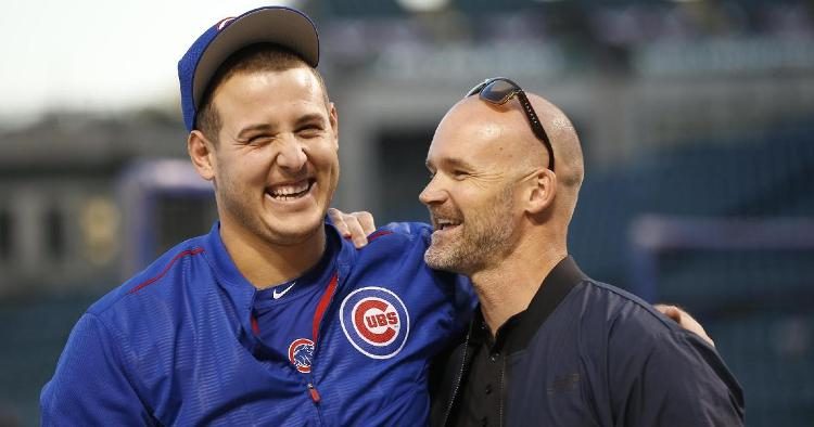 Former Chicago Cubs catcher David Ross is a candidate to replace Joe Maddon as the Cubs' next manager. (Credit: Jim Young-USA TODAY Sports)