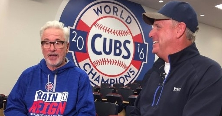 Roan spending some time with Joe Maddon this past season