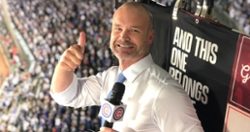 David Ross sings 'Take Me Out to the Ball Game' at Cubs game