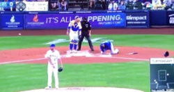 WATCH: Addison Russell drilled in side of head with pitch