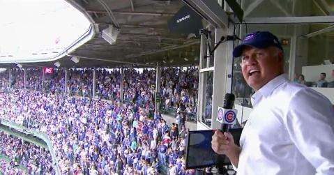 Ryne Sandberg commemorated the 35th anniversary of his legendary performance by singing during the seventh-inning stretch on Sunday.