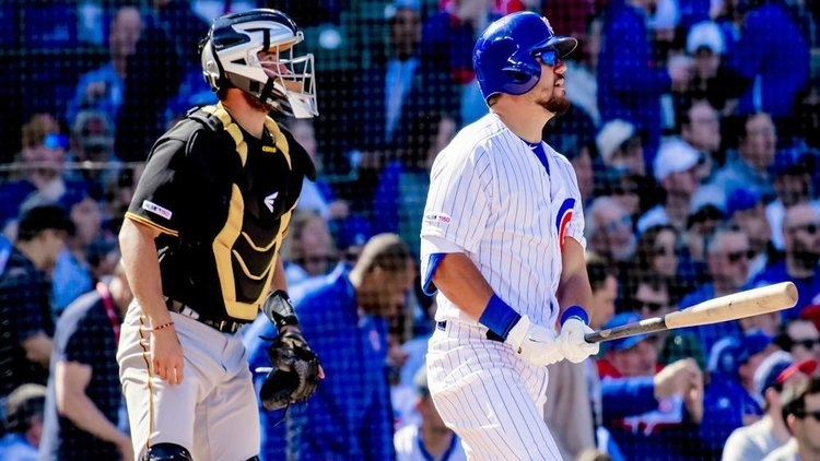 Kyle Schwarber provided the Cubs with a 10-run lead on a 2-run bomb. (Credit: Patrick Gorski-USA TODAY Sports)
